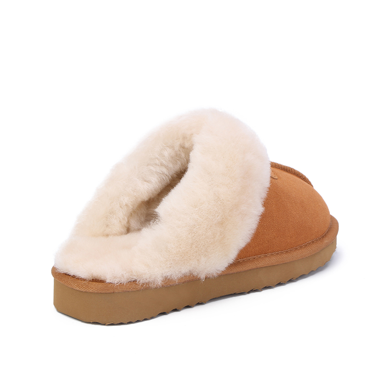 MBR FORCE Natural Fur Slippers Fashion Female Winter  Slippers Women Warm Indoor Slippers Quality Soft Wool Lady Home Shoes 4