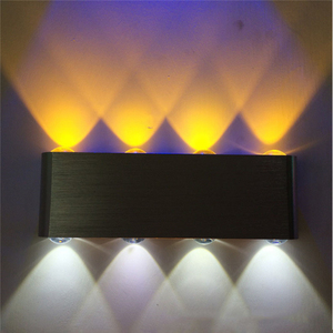 Image 3 - Modern 8W up down led wall light AC85 265V high quality cuboid colourful wall lamp shop bar restroom bedroom reading decoration