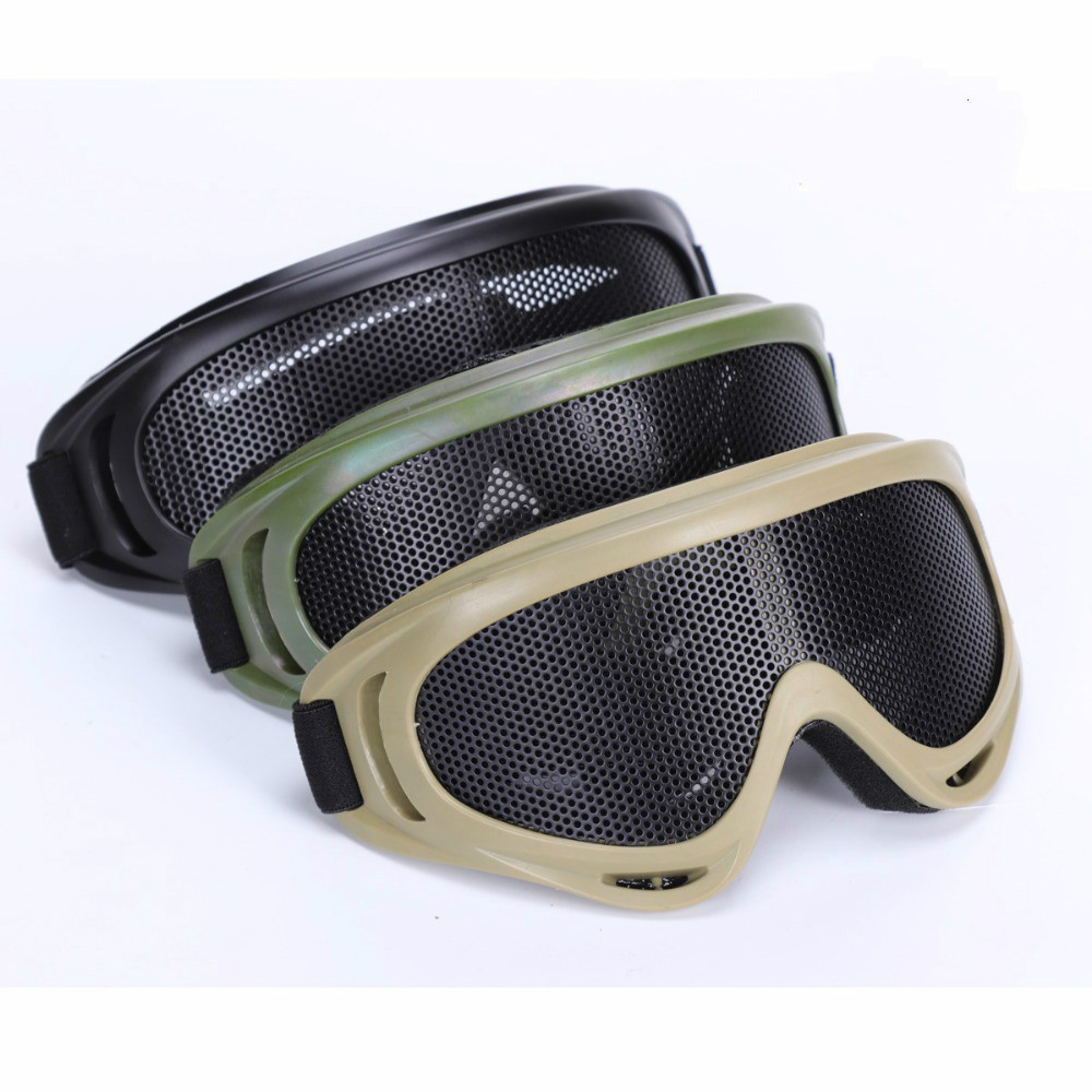 X400 Tactical Mesh Goggles Steel Mesh Lenses Goggles Sunglass Airsoft Outdoor Paintball Cycling Eyewear Hunting Accessories