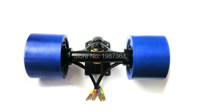 Monopatín eléctrico en el kit del motor de la rueda para longboard incluyendo ESC y remotes - 4
