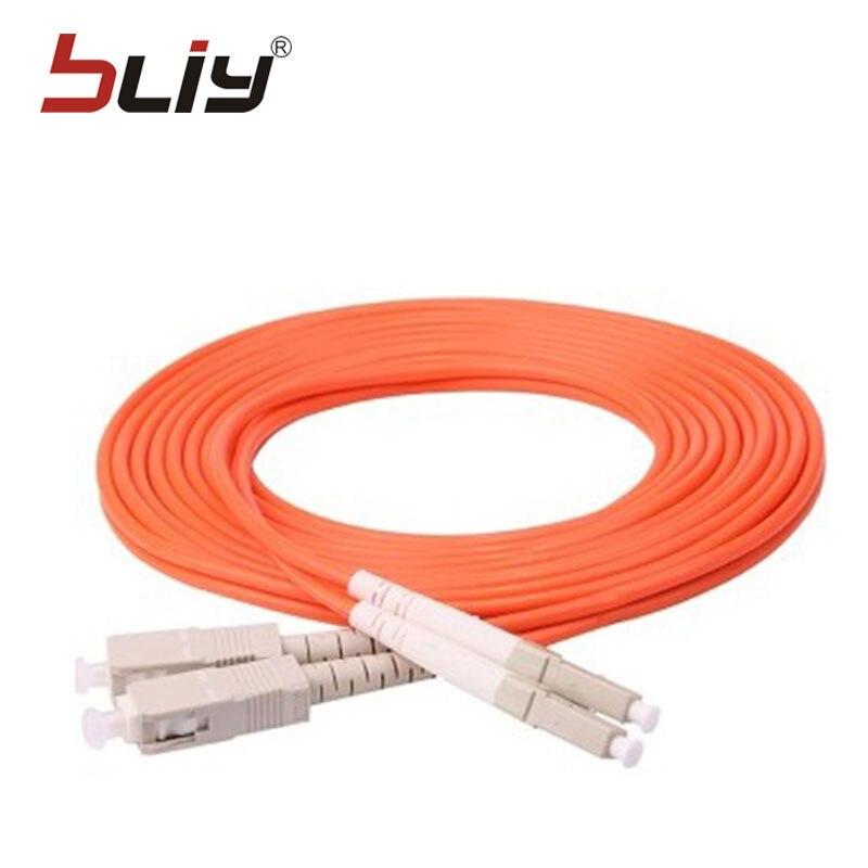 LC-SC 3M 10PCS/bag free shipping LC/UPC-SC/UPC Multi-Mode OM3 Fiber Cable Multimode Duplex Fiber Optical Jumper Patch Cord
