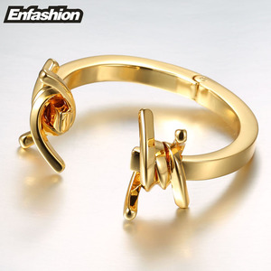 Image 4 - Enfashion תכשיטי קוצים דוקרני צמיד Noeud armband זהב צבע צמיד צמיד לנשים קאף צמידי Manchette צמידים