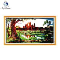 Joy Sunday Scenery Style The Sunrise At The Temple Of Angkor Wat Pinterest Cross Stitch Patterns