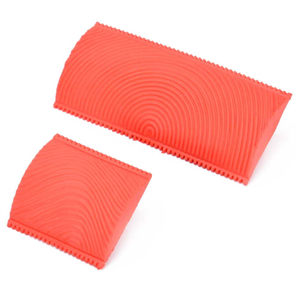 2pcs Large Small Wood Graining Pattern Rubber DIY Graining Painting Tool For Wall Decorative Tools
