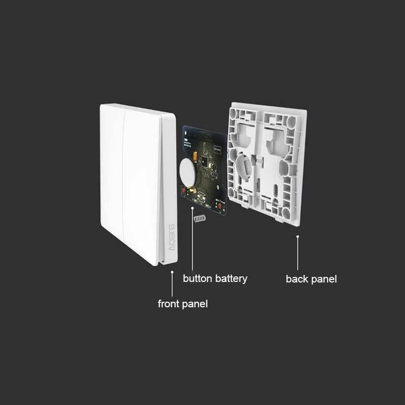 Nuevo Xiaomi Aqara Smart Home ZiGBee llave inalámbrica y interruptor de pared Neutral Control de luz a través de la aplicación de teléfono inteligente de Mijia APP
