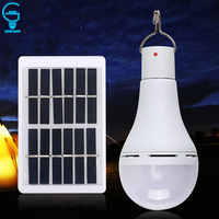 Outdoor Solar Lampadina 7W 9W 5 Modalità di Conservazione Solare Lampada Usb Ricaricabile Tenda Lampadina a Risparmio Energetico di Luce Solare spia di Alimentazione