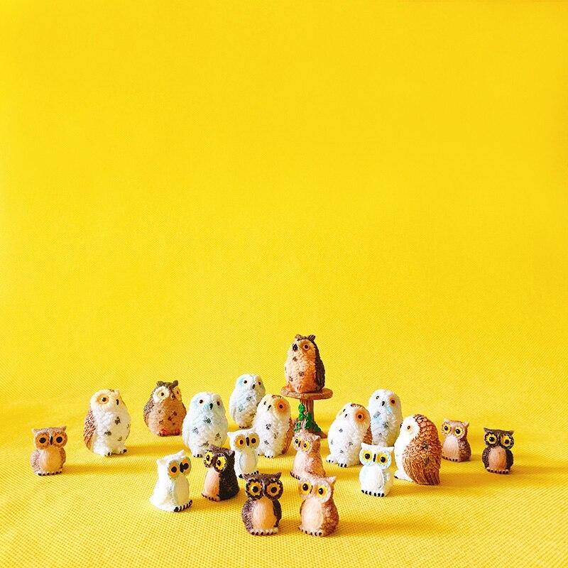 Figuren & Miniaturen Verkauf ~ 10 Stücke/eulen/miniaturen Tiere/reizende Nette/fee Garten Gnome/moos Terrarium Dekor /handwerk/bonsai/figur/diy Liefert Haus & Garten