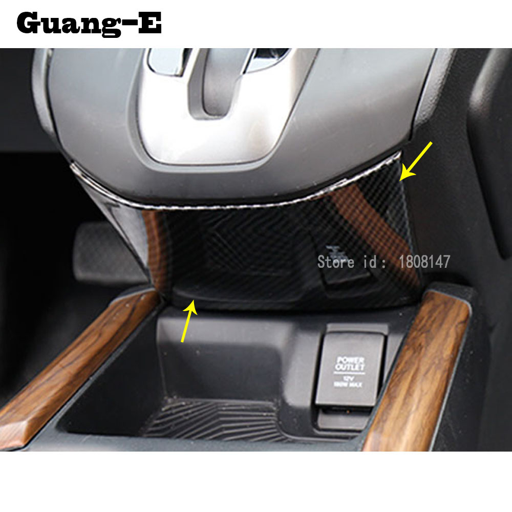 For Honda CRV CR-V 2017 2018 car sticker styling middle front Shift Stall Paddle front row of decorative frame trim parts 1pcs