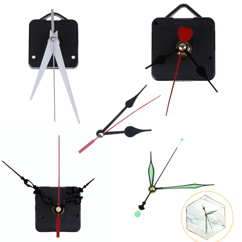 Clock-Mechanism-Parts Movement Wall-Clock Quartz-Watch Hanging Classic Black DIY