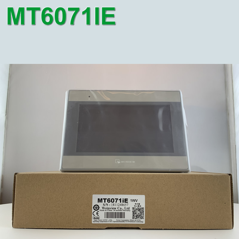 MT6071IE 7 inch HMI MT6071IE Touch Screen Weinview with programming cable and software replace MT6070Ih3 Fast