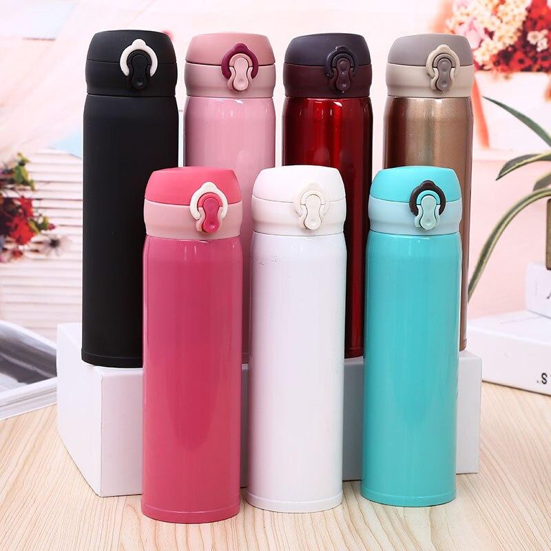 Fashion Travel Tea Mug 500ml Stainless Steel Tumbler Vacuum Flask Termos Thermocup Water Bottle Coffee Thermos Mug