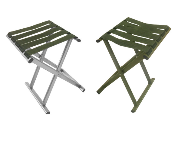Fashion Portable Mazar Beach Chair Outdoor Camping Folding Army Green Chair Creative Thick Steel Pipe Personality Chair Q371