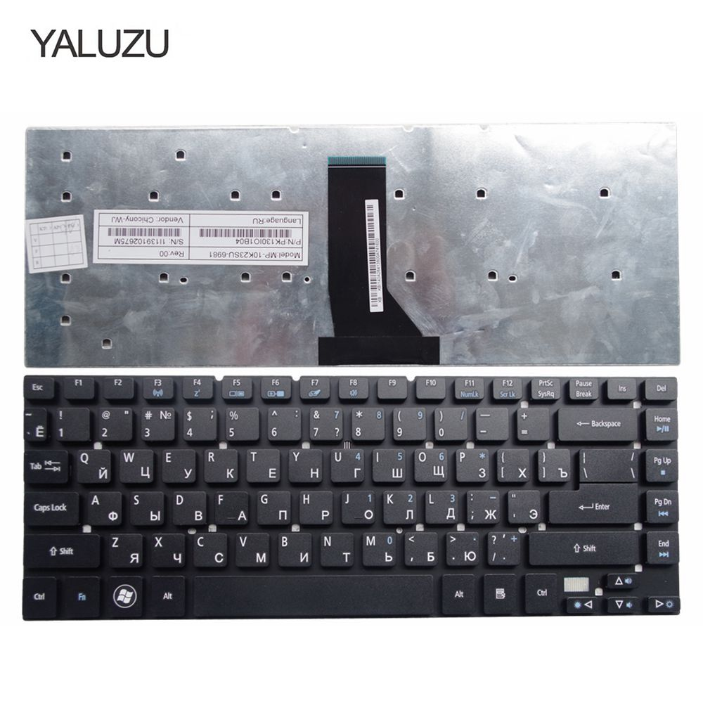 YALUZU russian laptop keyboard for <font><b>Acer</b></font> for <font><b>Aspire</b></font> 3830 3830G 3830T 3830TG 4755 <font><b>4830</b></font> 4830G 4830T <font><b>4830TG</b></font> V3-471 NV47H MS2317 RU image