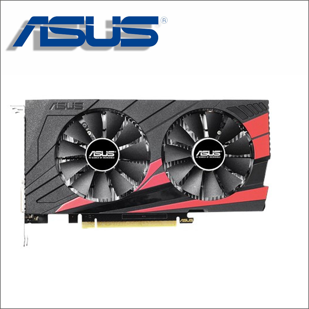 Utilisé ASUS Carte Vidéo GTX 1050Ti 4 gb 128Bit GDDR5 Cartes Graphiques pour nVIDIA VGA Cartes Geforce GTX1050ti Hdmi Dvi jeu 1050