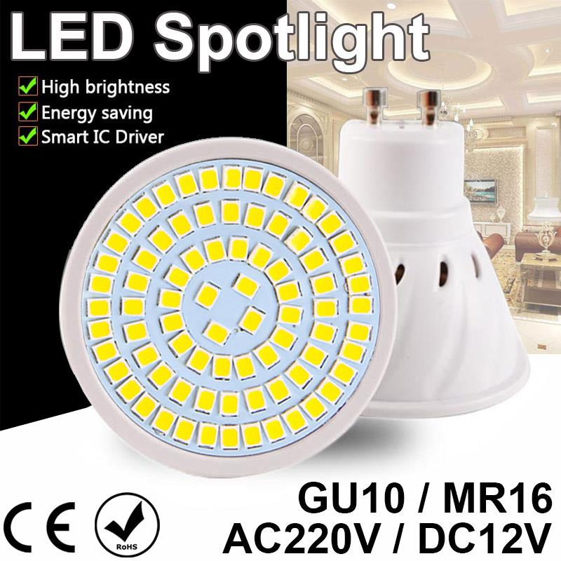 E27 MR16 GU10 Led Lamp 4W 6W 8W LED Spotlight DC 12V AC 110V 220V Led Lamp Light Warm Cold White Bulb Spot light Lampada Ampoule 5pcs e27 led bulb 2w 4w 6w vintage cold white warm white edison lamp g45 led filament decorative bulb ac 220v 240v
