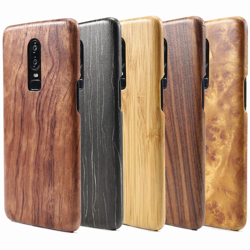 Coque pour Oneplus 6 coque de téléphone pour Oneplus 5 T de luxe en bois véritable Ultra mince coque arrière pour One plus 6 One plus 5 T 1 + 6/1 + 5 T