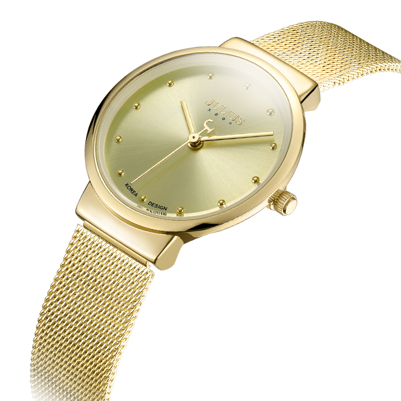Image 2 - Thin Classic Lady Womens Watch Japan Quartz Girl Hours Fine Fashion Clock Bracelet Stainless Steel Girl Lovers Gift Julius Box-in Womens Watches from Watches on AliExpress