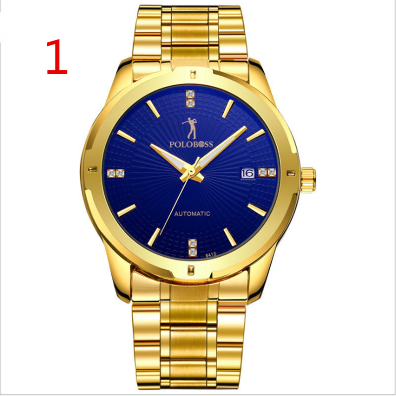 New top mens luxury business watch, stainless steel watch strap waterproof, fashionable high quality. 79New top mens luxury business watch, stainless steel watch strap waterproof, fashionable high quality. 79