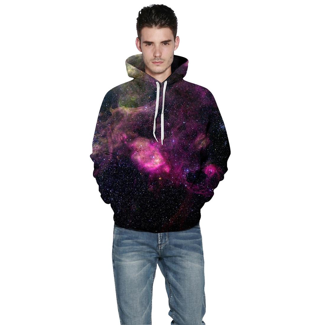 Men/Women New Hoodies Sweatshirts Hooded 3D Purple nebula Printed Casual Loose Thin Hoody Pullovers