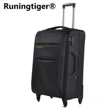32fbefd69 De negocios de moda trolley caso impermeable Oxford maleta hombre grande de  22/26 pulgadas capacidad de contraseña caja rodante maleta equipaje