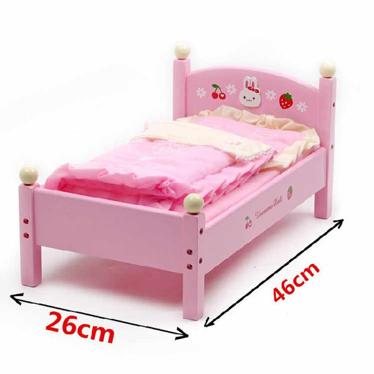 Original Blooming Stars Toys The Little Princess Dolls bed Pretend Play Wood Educational Girl Toys Present Gifts