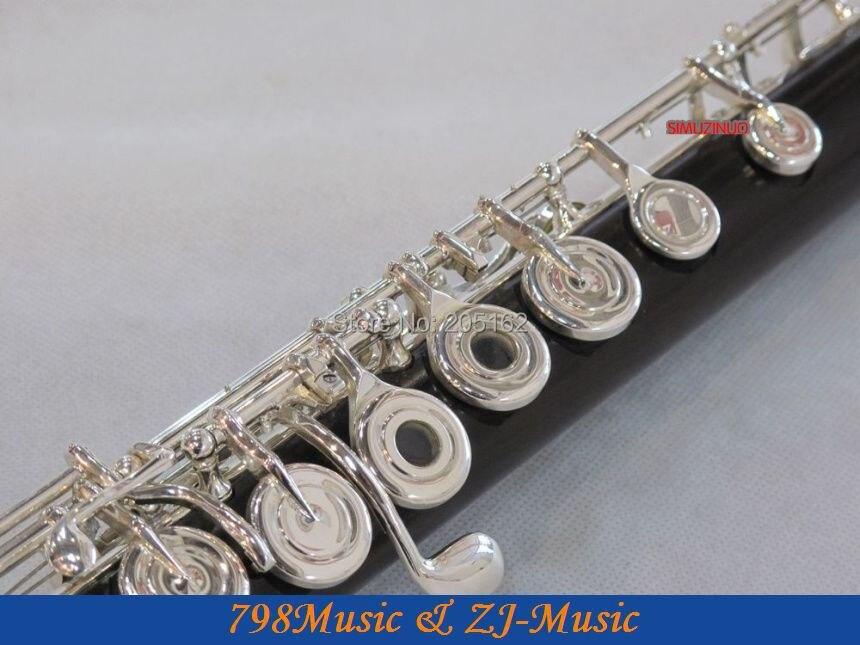 Flauta de granadilla africana Blackwood profesional-Pie B-Agujero - Instrumentos musicales - foto 6