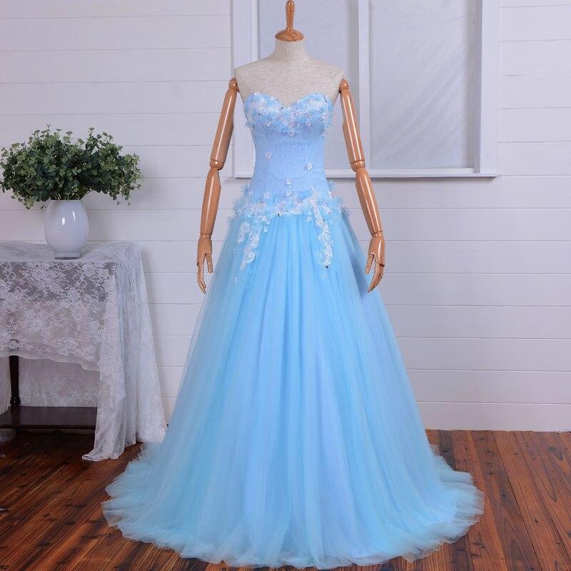 Woman Sexy Sweetheart Long A-line 2018 Evening Vestido De Festa Tulle Lace Appliques Flowers Mother Of The Bride Dresses