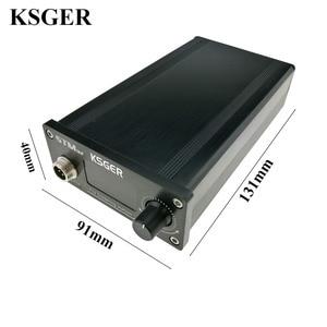 Image 3 - KSGER OLED Soldering Station T12 ILS Electronic Iron Tools STM32 2.1S Temperature Controller Handle Stand Holder 220V Welding