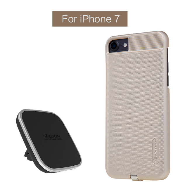 Nillkin Qi Car wireless charger pad Receiver case for iPhone 7 7 Plus car QI Wireless Charger Holder Magnetic Air Vent Mount pad
