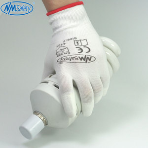 Image 3 - NMSafety 12 Pairs White Polyurethane Dipping Finger Anti Static Safety Work Glove