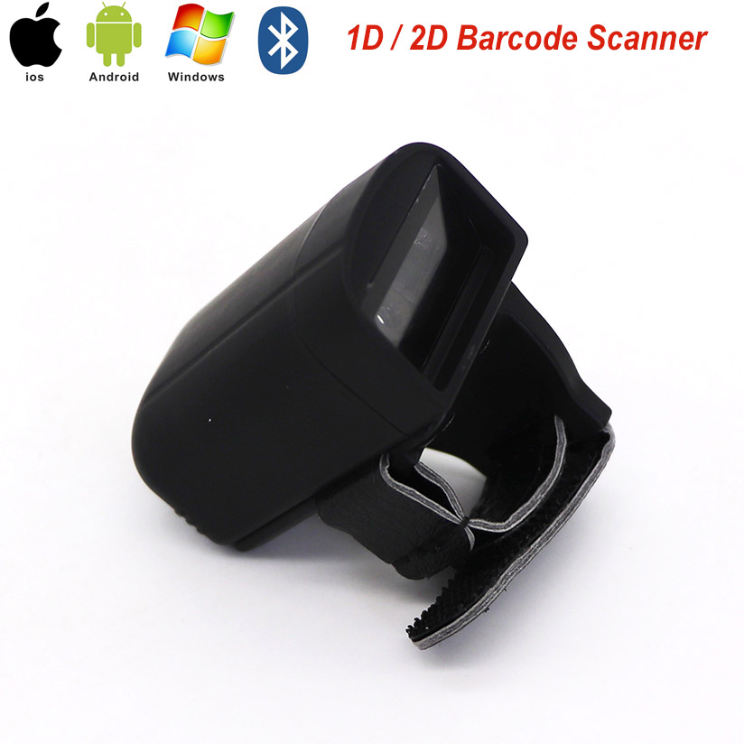 2018 Free Shipping Mini Bluetooth Ring 2D Scanner Barcode Reader For IOS Android Windows PDF417 DM QR Code 2D Wireless Scanner mj r30 mini bluetooth ring 2d scanner qr code pdf417 datamatrix wireless portable 2d qr barcode reader bluetooth scanner ios
