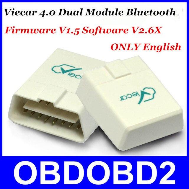 Топ Похожие Новое Поколение Viecar 4.0 Программного Обеспечения V1.5 Прошивки V2.6X Двойной Модуль Bluetooth ELM327 Работает iOS/Android/Windows