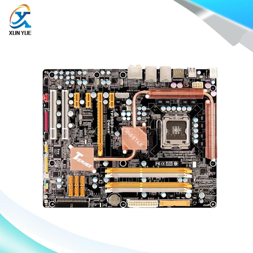 BIOSTAR TP35D3 A7 Deluxe Original Used Desktop Motherboard Intel P35 LGA font b 775 b font