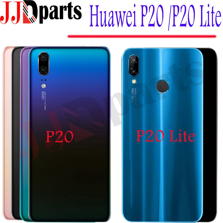 Battery-Cover Camera-Lens-Replacement Back-Glass Huawei P20 Rear-Door-Case Lite for Nova
