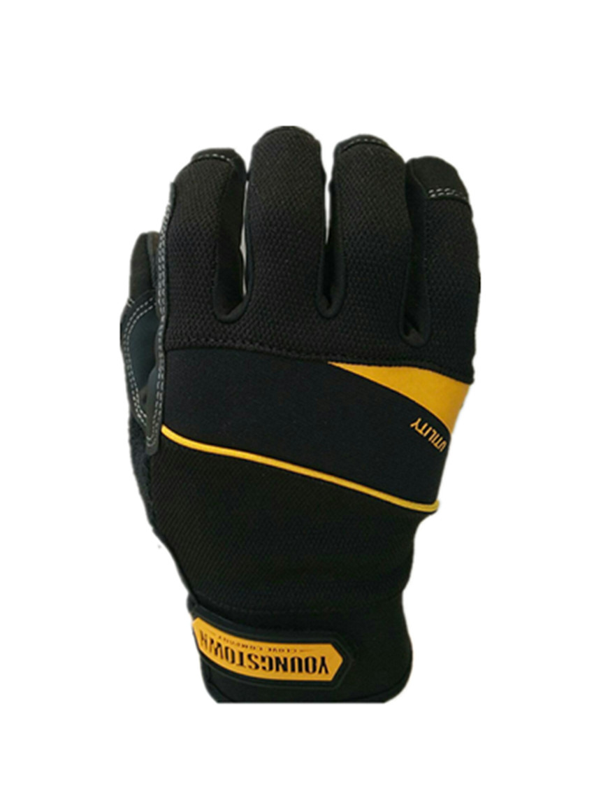 Genuine Highest Quality Performace Extra Durable Puncture Resistance Non-slip Working Gloves(Black,Large)