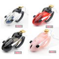 Prison Bird Male Polycarbonate Electro Chastity Cage Device Locking New Arrival 4 Colors to choose  A178