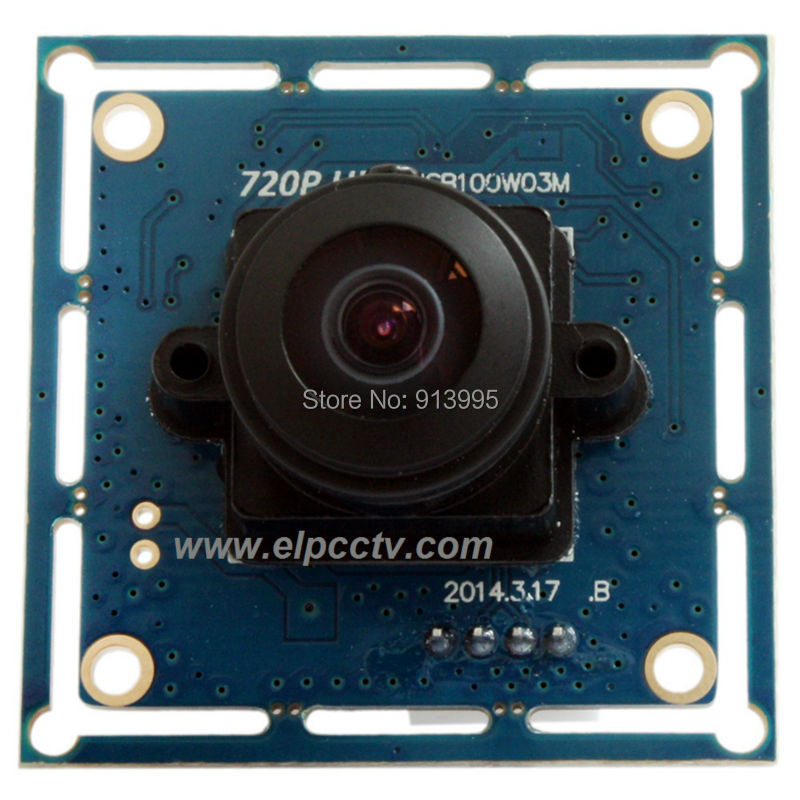 цена на 720P hd cmos OV9712 MJPEG 170 degee wide angle fisheye lens free driver usb camera board for Android ,Windows, Linux