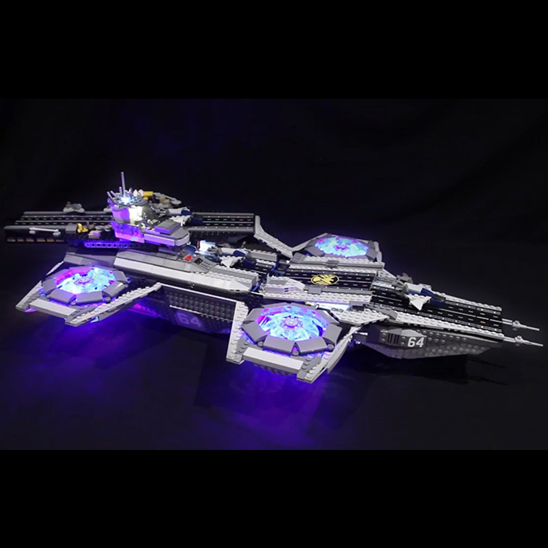 LED light up kit for lego 76042 Super Heroes The Shield Helicarrier Compatible 07043 Building Blocks Bricks (only include light)LED light up kit for lego 76042 Super Heroes The Shield Helicarrier Compatible 07043 Building Blocks Bricks (only include light)