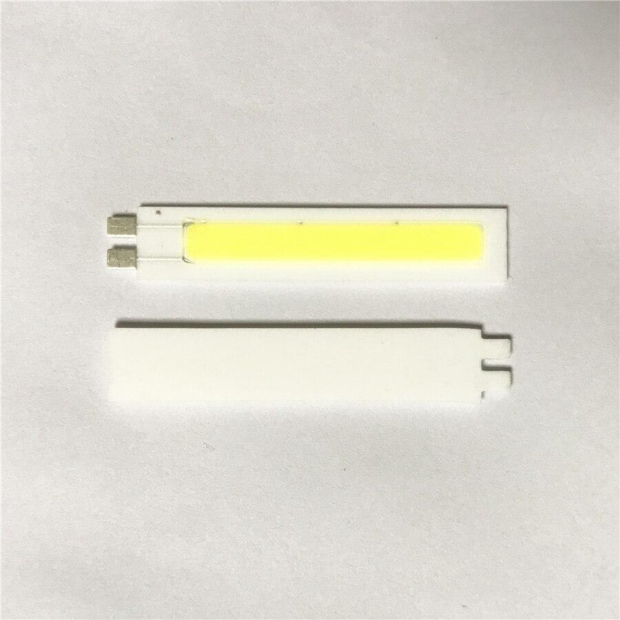 10 шт. светодиодный COB Чип DC9V 3 Вт источник света для DIY огни автомобилей Indoor Открытый лампы освещения белый l42MM X W8MM