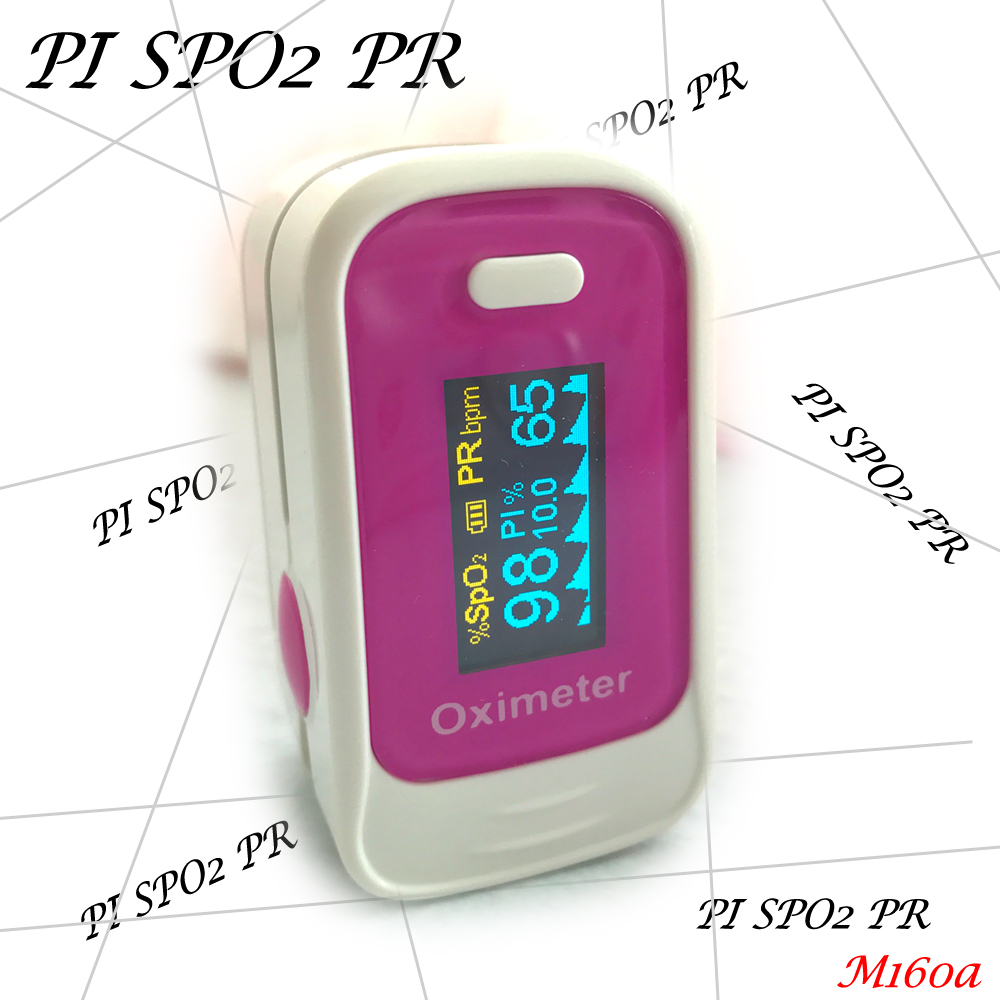 Pulse Oximeter Visual Alarm Beep Sound SPO2 PR Memory Recall 8 Hours PI Perfusion Index Blood Oxygen Monitor