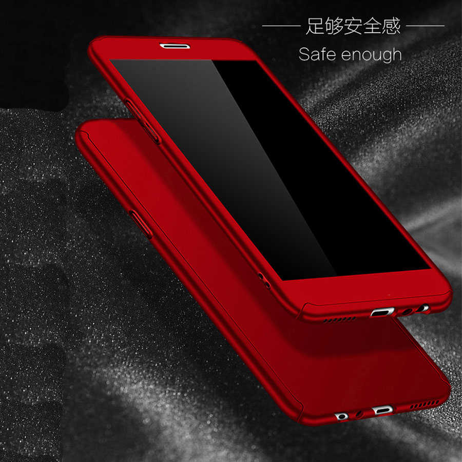 الهجين جراب هاتف جراب هاتف شاومي Redmi 6 برو 6A حالة Redmi S2 4X5 زائد ملاحظة 5 برو 4 4X 5A 360 غطاء كامل حالة الزجاج المقسى