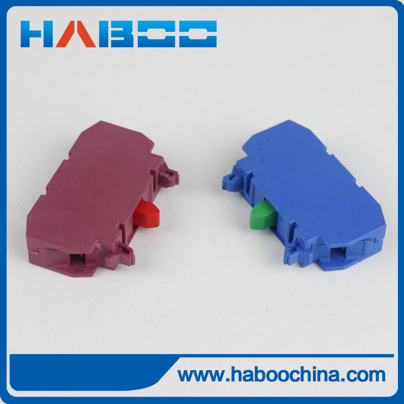 10PCS/LOT NO/NC contacts for HABOO HQ22MM PUSH BUTTON SWITCH red color/blue color
