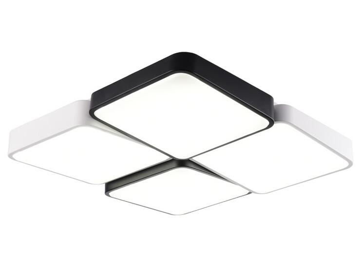 Plafoniere Led A Soffitto Moderno Dimmerabile : Designer metallo moderno led luci di soffitto bianco nero piazza