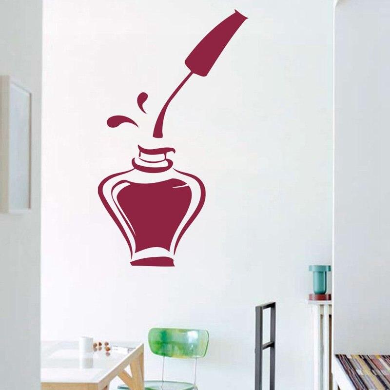 Online get cheap nail salon decoration - Stickers deco salon ...