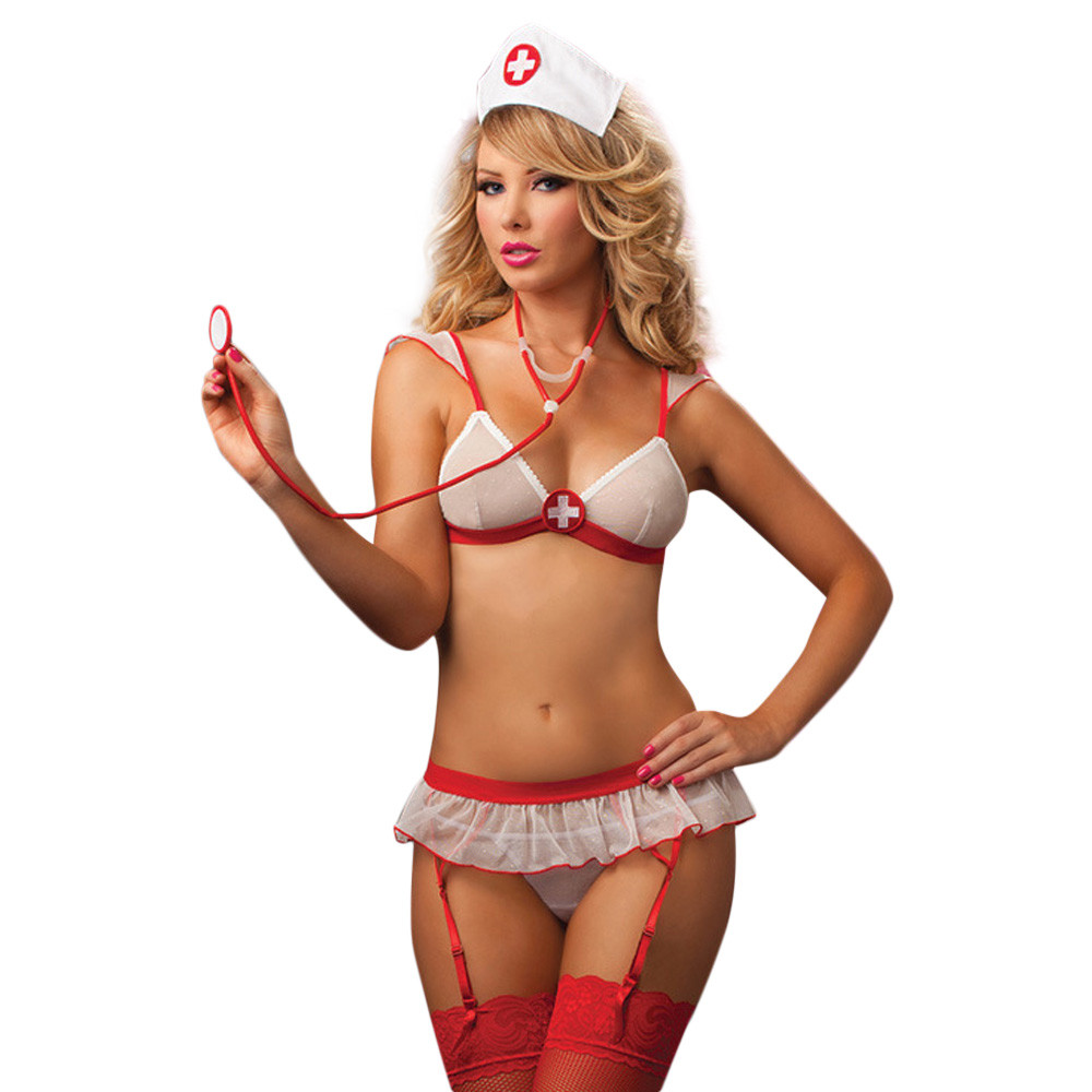 Sexy Lingerie Women Underwear Porno Uniform Temptation Erotic Thin Sling Lace Nurse Uniform Short Teasing Temptation Sex Shop H5
