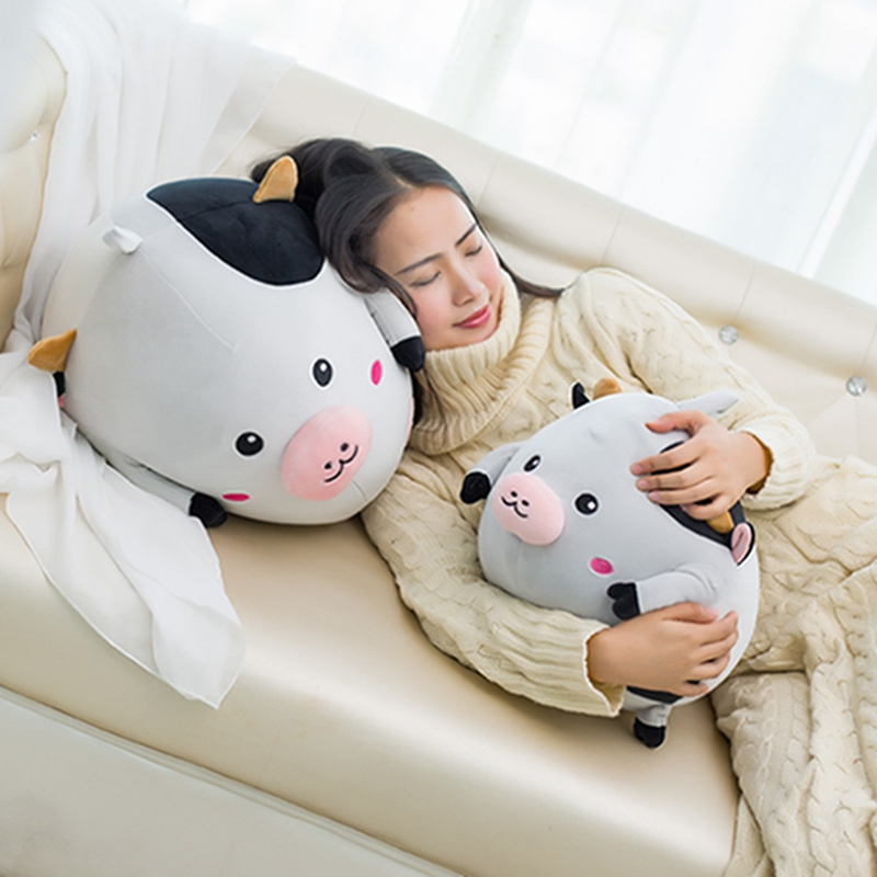 30/40cm Cute 2017 new Style Cow plush Toys Fat cattle cloth doll pillow Cushion stuffed comfy soft plush kids toys купить
