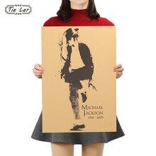 AMARRAR LER MJ Estrela Kraft Nostalgia Cartazes Bar Cartaz Pintura Decorativa Retro Adesivos de Parede 51.5X36 cm