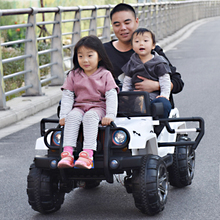 Children's electric remote control buggy Four-wheeled can sit oversized charging toy car