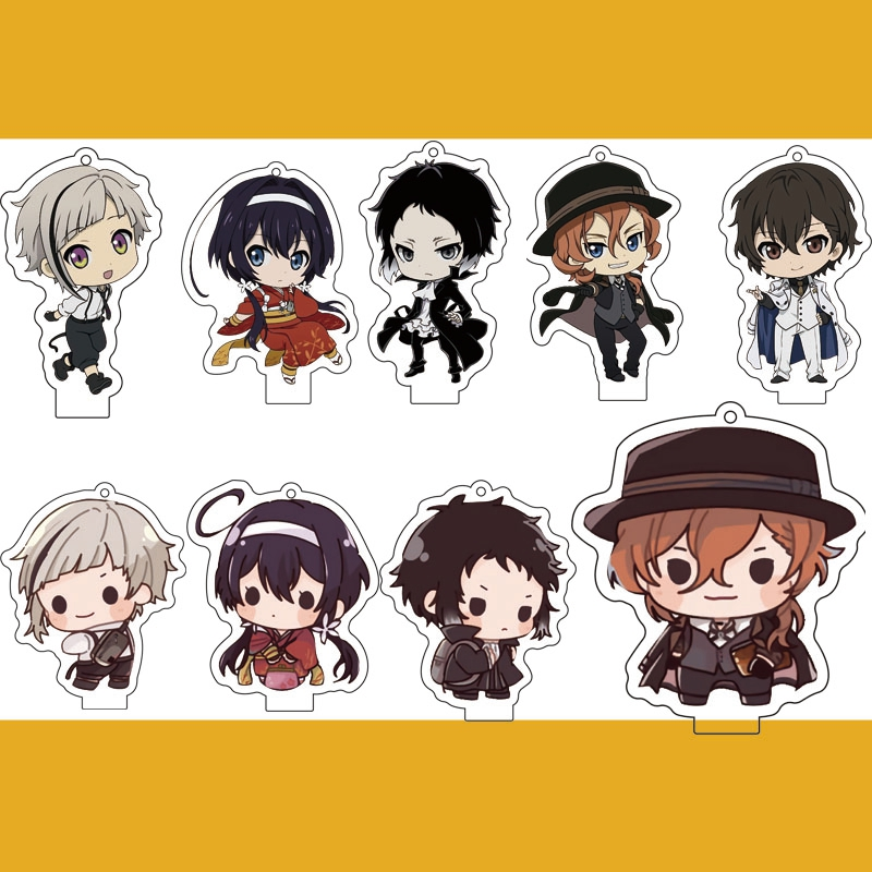 Anime Bungo Stray Dogs Dead Apple Osamu Dazai Keychain Cosplay Acrylic Stand Figure Keyring Pendant Charms Hanging Ornament Gift