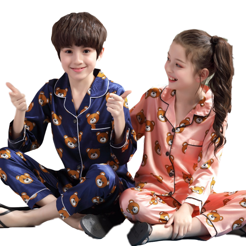 Children Cartoon   Pajamas     Set   2019 Autumn Long Sleeve Kids Clothes Cute Girls Sleepwear   Sets   Boys Pyjamas   Sets   Teenager Pijamas